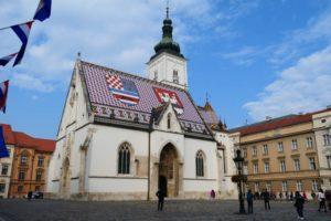 Portail de l'Église Saint Marc de Zagreb – bijou de la sculpture gothique